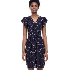Rebecca Taylor Mia Floral V Neck Dress Silk